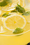 Homemade Refreshing Yellow Lemonade Stock Photo