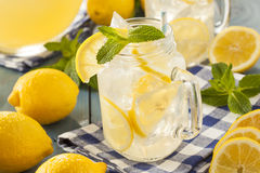 Homemade Refreshing Yellow Lemonade Royalty Free Stock Photo