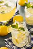 Homemade Refreshing Yellow Lemonade Stock Photography