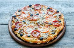 Homemade Regina pizza Royalty Free Stock Photo