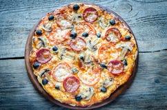 Homemade Regina pizza Stock Photography