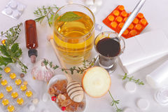 Homemade Remedies for Flu Royalty Free Stock Photography