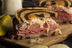Homemade Reuben Sandwich Royalty Free Stock Photography