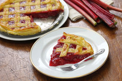 Homemade rhubarb pie Royalty Free Stock Photo
