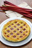 Homemade rhubarb pie Royalty Free Stock Image