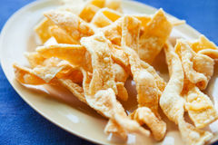 Homemade rice chips Stock Images