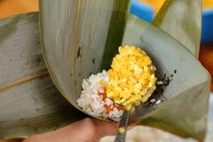Homemade rice dumpling process Stock Photos