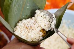 Homemade rice dumpling process Royalty Free Stock Images