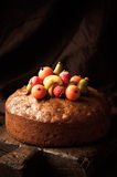 Homemade Rich Fruit Cake Royalty Free Stock Photos