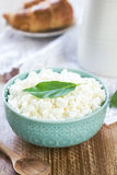 Homemade Ricotta cheese Royalty Free Stock Images