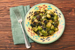 Homemade Roasted Brussel Sprouts Royalty Free Stock Photography
