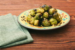 Homemade Roasted Brussel Sprouts Royalty Free Stock Photos
