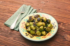 Homemade Roasted Brussel Sprouts Stock Photos