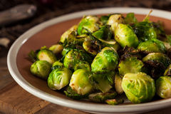 Homemade Roasted Brussel Sprouts Stock Image