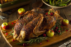 Homemade Roasted Duck with Herbs Royalty Free Stock Photography