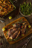Homemade Roasted Duck with Herbs Royalty Free Stock Image