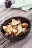 Homemade roasted jerusalem artichoke sunchoke dish Stock Photos