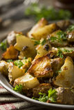 Homemade Roasted Jerusalem Artichoke Sunchokes Stock Photography