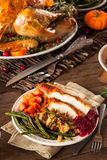 Homemade Roasted Thanksgiving Day Turkey Royalty Free Stock Image