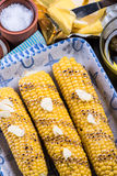 Homemade roasted whole corn cob Stock Photography