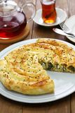 Homemade rolled borek, turkish cuisine Royalty Free Stock Photography