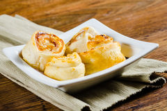 Homemade rolled pie  ready for dinner Royalty Free Stock Image