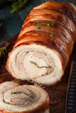 Homemade Rolled Porchetta Roast Royalty Free Stock Photography