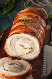 Homemade Rolled Porchetta Roast Royalty Free Stock Images