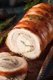 Homemade Rolled Porchetta Roast Royalty Free Stock Photos