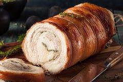 Homemade Rolled Porchetta Roast Stock Photography