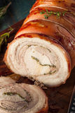 Homemade Rolled Porchetta Roast Stock Image