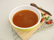 Homemade rose hip soup Stock Photography