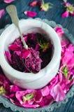 Homemade rose jam Stock Photos