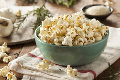 Homemade Rosemary Herb and Cheese Popcorn Royalty Free Stock Images