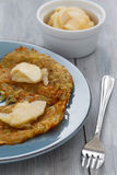 Homemade Rosti and Apple Compote Stock Photos
