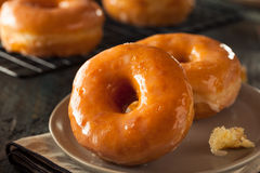 Homemade Round Glazed Donuts Royalty Free Stock Images