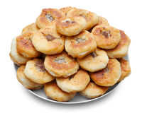 Homemade round meat pies Royalty Free Stock Images