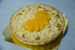 Homemade round peach pie pastry crust Royalty Free Stock Photography