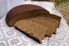 Homemade round rye bread Stock Photo