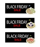 Homemade Round Waffles on Black Friday Sale Banner Royalty Free Stock Photography
