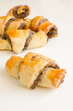 Homemade Rugelach. (Jewish pastry) on white background Stock Photo