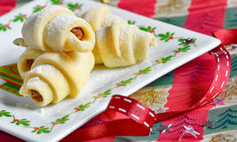 Homemade Rugelach (Jewish pastry) Royalty Free Stock Image