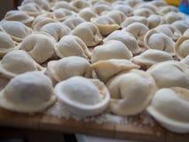 National cuisine. Siberian handmade dumplings Stock Photography
