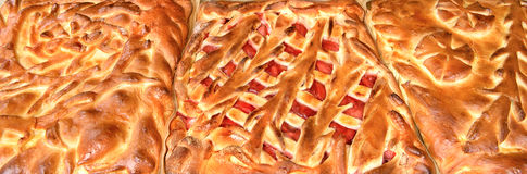 Homemade Russian pies, background Stock Photos