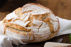 Homemade rustic bread Stock Images