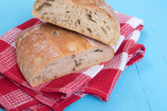Homemade Rustic Ciabatta Bread Royalty Free Stock Photography