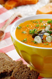 Homemade rustic pumpkin soup Royalty Free Stock Images