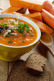Homemade rustic pumpkin soup Royalty Free Stock Photography