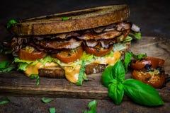 Rustical BLT sandwich royalty free stock photo