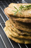 Homemade rustical crackers with rosemary Stock Photos